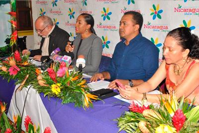 La Compañera Anasha Campbell Co Directora para Asuntos de Cooperación y Proyectos Turísticos del INTUR informó en conferencia de prensa sobre el abanicos de actividades a desarrollarse el fin de semana