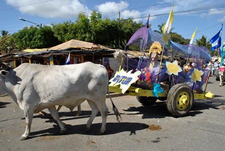 """Más de 400 carretas peregrinas llegaron al Santuario de Popoyuapa """"Jesús del Rescate"""" en Rivas"""