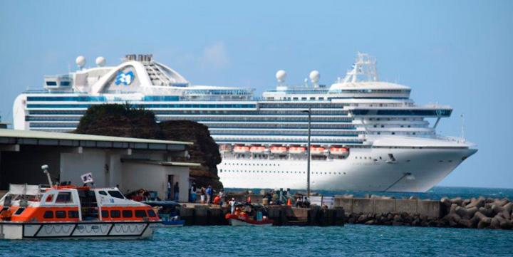 Crucero Crown Princess atraca en San Juan del Sur