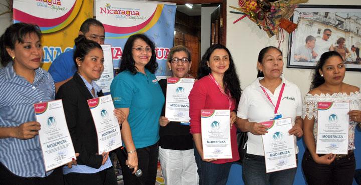 INTUR renueva el programa de calidad moderniza a 16 empresas turísticas de Managua