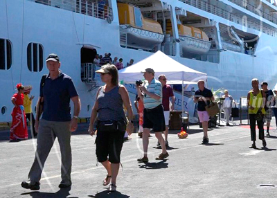 Primer crucero del año llega a Corinto