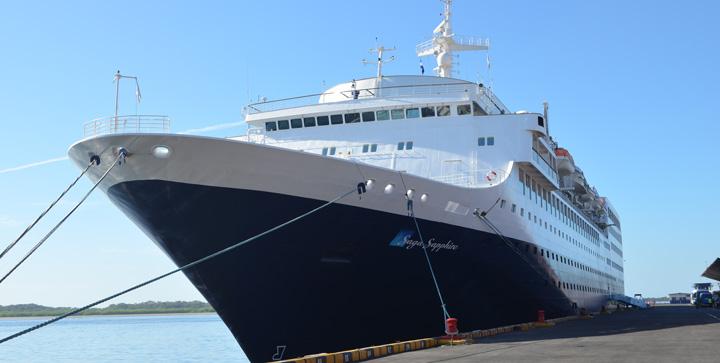 Arriba por primera vez crucero Saga Sapphire