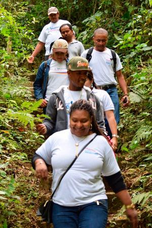 Protagonistas de Laguna de Perlas realizan intercambio de experiencias con sus pares de Matagalpa