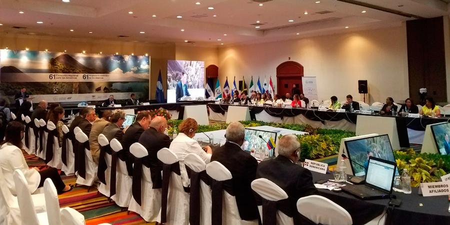 Nicaragua en 61ª Reunión de la Comisión Regional de la OMT