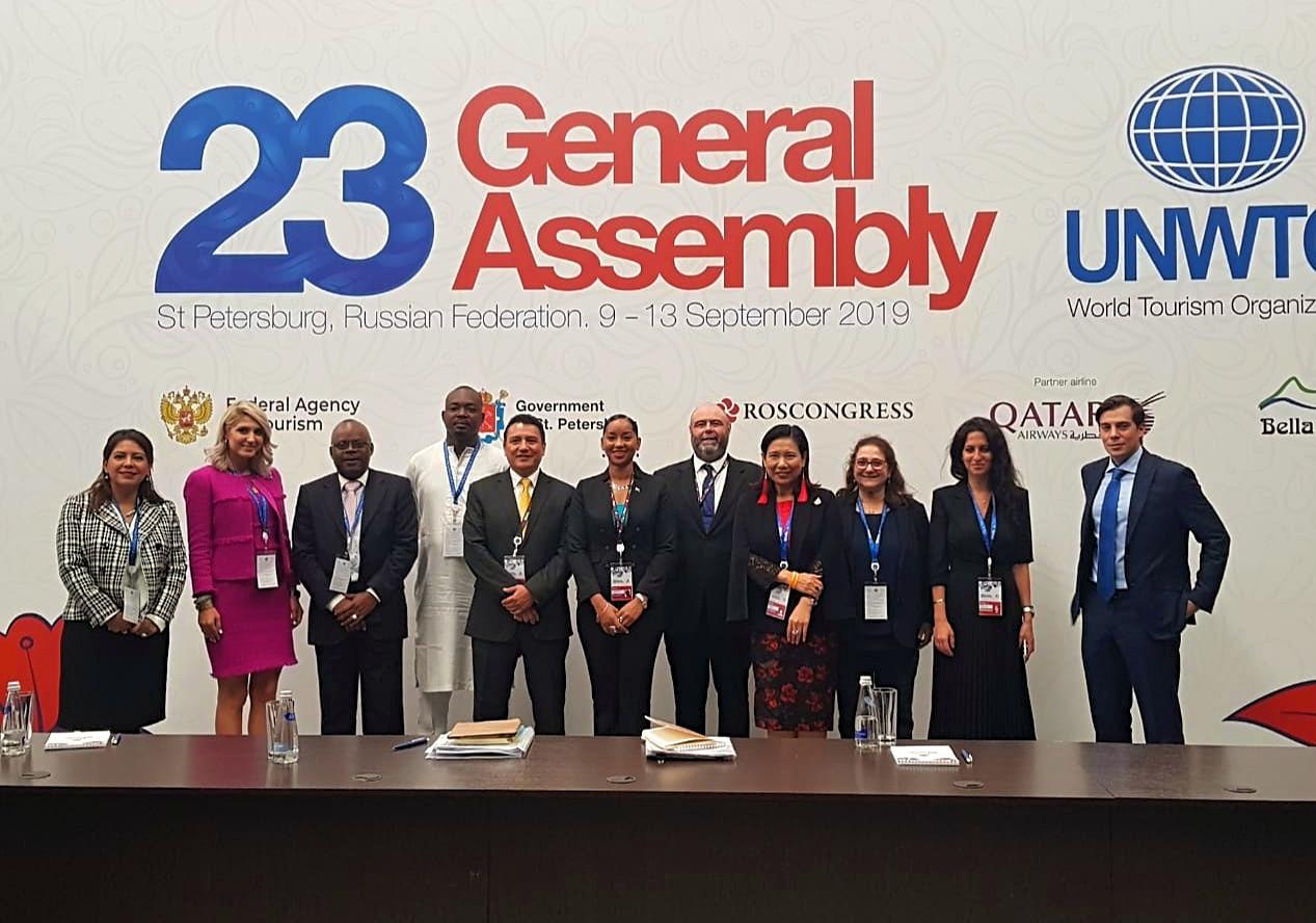 Comité de Credenciales de la 23 Asamblea General de la Organización Mundial del Turismo, OMT.