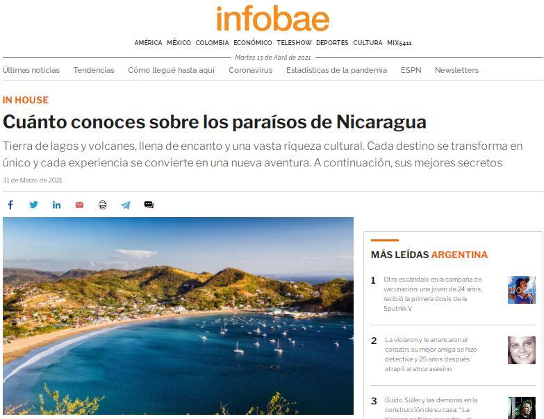 info bae nicaragua