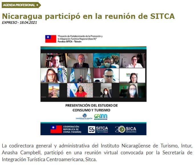 Nicaragua participó en la reunión de Sitca
