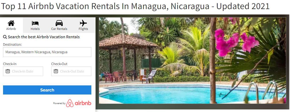 Top 11 Airbnb Vacation Rentals In Managua