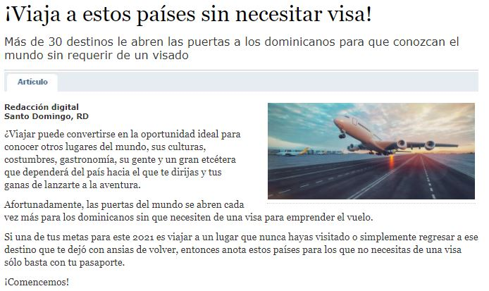 Viaja a estos países sin necesitar visa