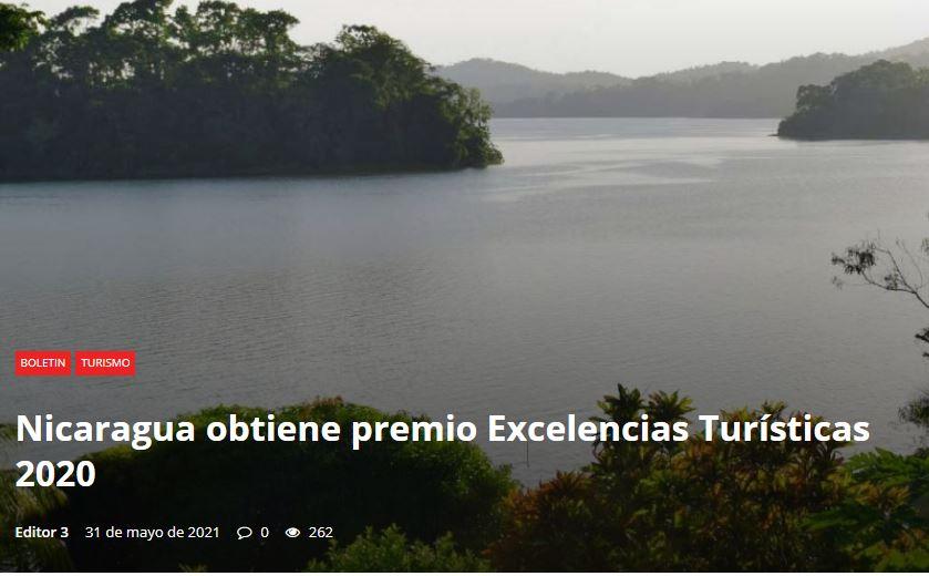 1 premio a la excelencia Nicaragua