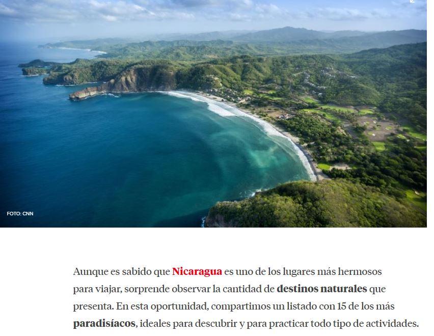 nicaragua destinos naturales para viajar