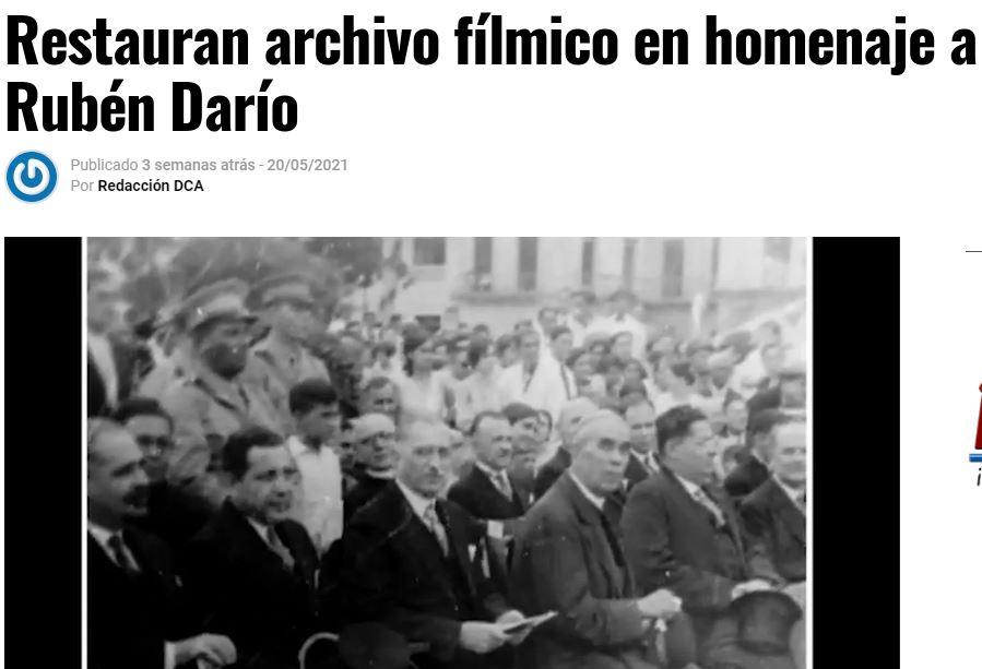 restauran archivo filmico de ruben dario